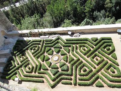 Photograph - Beautiful Garden View Of Segovia Castle Alcazar In Spain by John Shiron