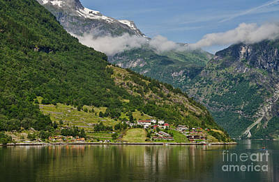 Beautiful Geiranger Norway Art Print