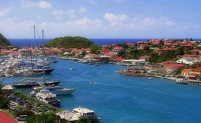 Red Roof Photograph - Beautiful Gustavia by Karen Wiles