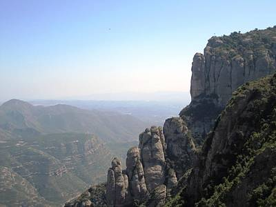 Photograph - Beautiful Montserrat Monastery Mountain View High Above In Spain Near Barcelona by John Shiron