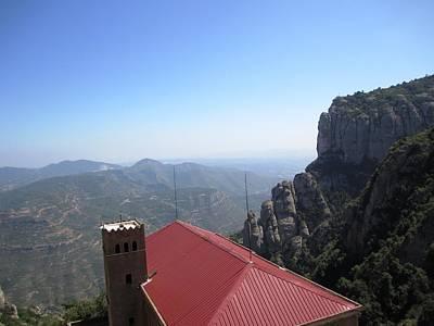 Photograph - Beautiful Montserrat Monastery Mountain View II High Above In Spain Near Barcelona by John Shiron