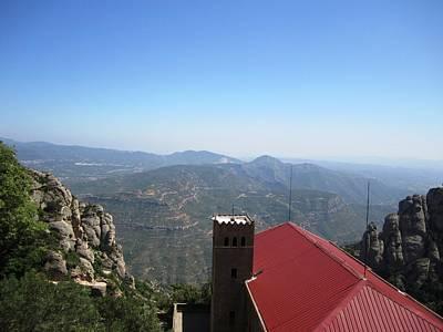 Photograph - Beautiful Montserrat Monastery Mountain View IIi High Above In Spain Near Barcelona by John Shiron