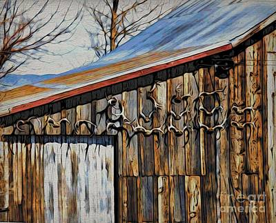 Photograph - Beautiful Old Barn With Horns by Phyllis Kaltenbach