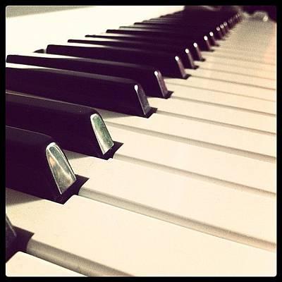 Piano Wall Art - Photograph - #beautiful #piano #pianokeys #keyboard by Tarek Aly