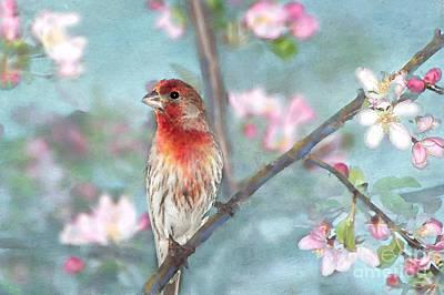 Digital Watercolor Photograph - Beautiful Spring by Betty LaRue
