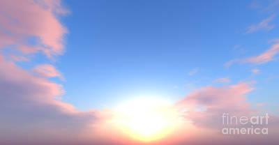 Mindscape Digital Art - Beautiful Sun by Nick Pearce
