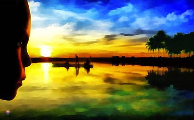 Beautiful Sunset Art Print by Vidka Art