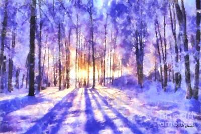 Beautiful Winter Morning Art Print by Elizabeth Coats