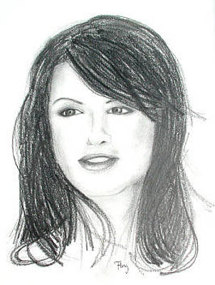 Beautiful Woman - Portrait Drawing Original by Andrew Fling