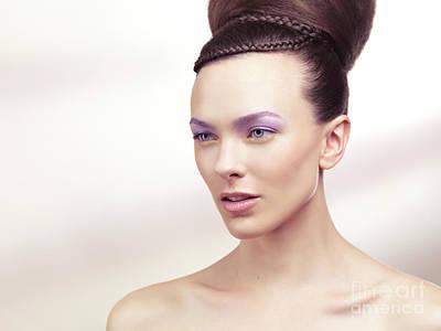 Beautiful Young Woman Portrait Art Print by Oleksiy Maksymenko