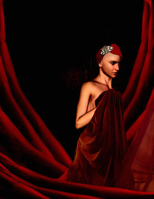 Nude Digital Art - Beautifully Red by Lourry Legarde
