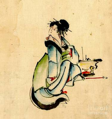 Beauty And Hibachi 1840 Art Print