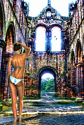 Ruins Mixed Media - Beauty And The Flooded Ruins by Tyler Robbins