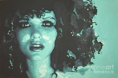 Woman Painting - Beauty Blue by Leigha Sherman
