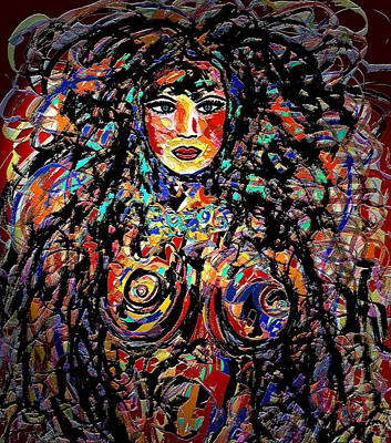 Long Necklace Mixed Media - Beauty Goddess by Natalie Holland