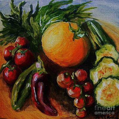 Art Print featuring the painting Beauty Of Good Eats by Karen  Ferrand Carroll