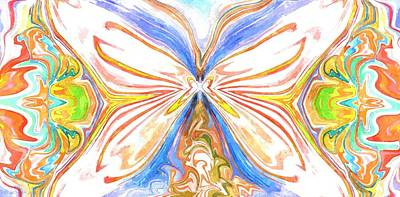 Painting - Beauty Of The Butterfly 2 - Abstract 200 by Lynda K Cole-Smith