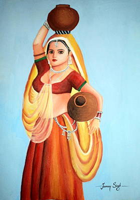 Painting - Beauty With Simplicity by Tanmay Singh