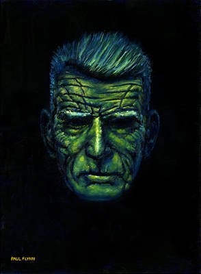 The Last Time Painting - Beckett In Blue by Paul Flynn