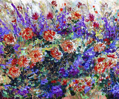Bed Of Flowers Art Print