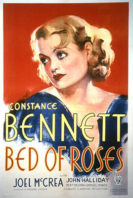 Postv Photograph - Bed Of Roses, Constance Bennett, 1933 by Everett