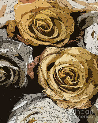 Mixed Media - Bed Of Roses by Kimberly  Brown