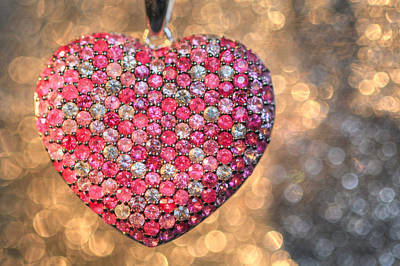 Heart Necklace Photograph - Bedazzle My Heart by Shelley Neff