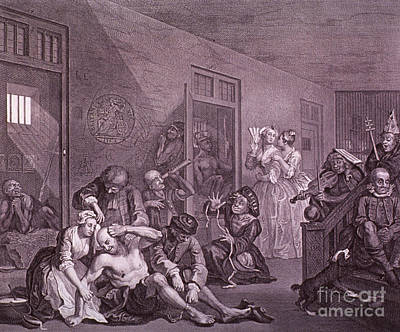 Mental Health Art Photograph - Bedlam, Engraving By Hogarth by Science Source