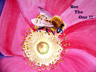 The One Painting - Bee The One by Irina Sztukowski