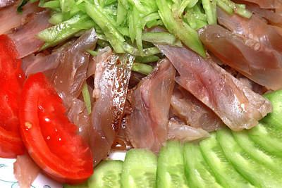Photograph - Beef Tendon With Vegetables by Paul Ge