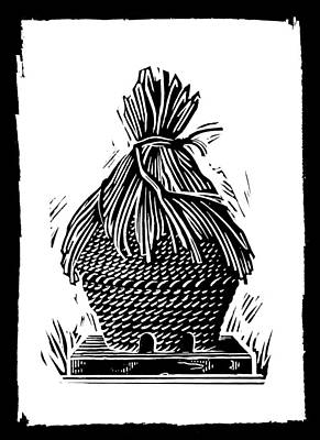 Beehive, Woodcut Art Print