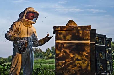 Wax Cap Photograph - Beekeeper by James Bull