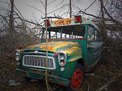 Beenie Bus 2 Art Print by Cyryn Fyrcyd
