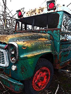 Beenie Bus 3 Art Print by Cyryn Fyrcyd