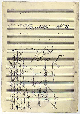Photograph - Beethoven Manuscript, 1799 by Granger