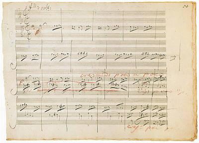 Beethoven Manuscript, 1806 Art Print by Granger