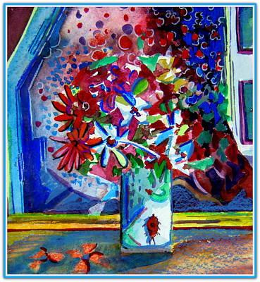 Beetle And Flowers Original