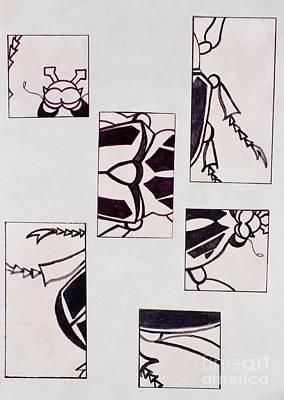 Drawing - Beetle Mania by Vonda Lawson-Rosa