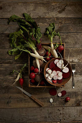 Y120817 Photograph - Beets And Radishes by Lew Robertson