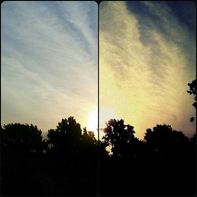 #before & #after #sunrise #sky #clouds Art Print by Kel Hill