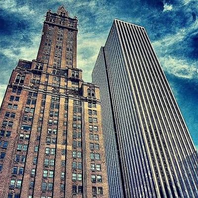 Skyscrapers Wall Art - Photograph - Before And After - New York by Joel Lopez