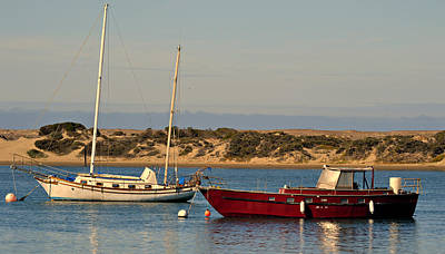 Boats In Morro Bay Photograph - Before Sundown by Fraida Gutovich