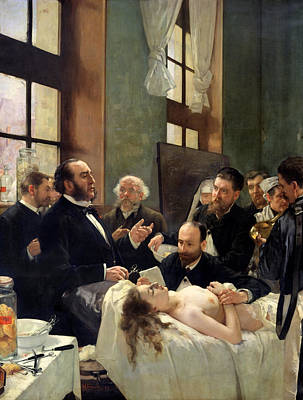 Before The Operation Art Print by Henri Gervex