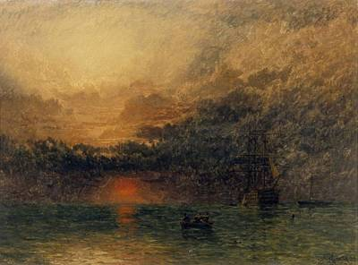Before Dusk Painting - Before The Storm by Henry Dawson