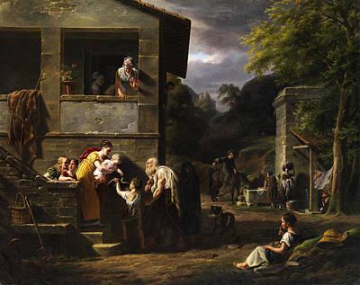 Beggar Print by Antoine Beranger