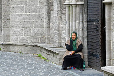 Photograph - Beggar At Sint-niklaaskerk by David Freuthal