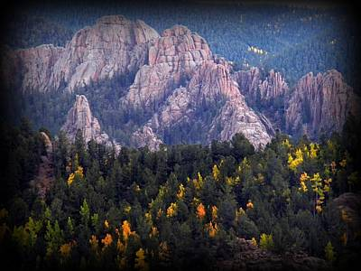 Art Print featuring the photograph Beginning Of Mountain Fall by Michelle Frizzell-Thompson