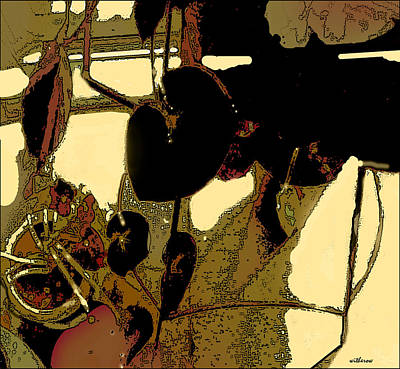 Begonias And Shadows Art Print by Dale  Witherow