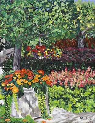 Begonias Art Print by Christina Plichta