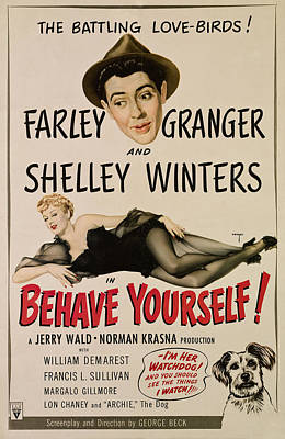 Behave Yourself, From Top, Farley Art Print by Everett